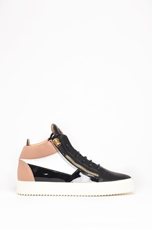 GIUSEPPE ZANOTTI DESIGN Leather high-top 'May London' sneaker with zipper and gold accents