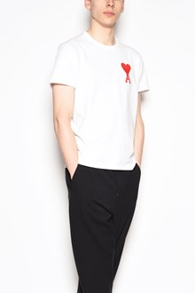 AMI 'Red flock' printed cotton t-shirt