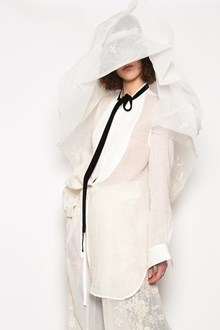 ANN DEMEULEMEESTER Koreana oversize shirt with contrast bow