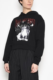 McQ ALEXANDER McQUEEN Cotton sweater with hoodie and print