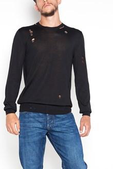 ALEXANDER MCQUEEN Roundneck destroyed sweatshirt