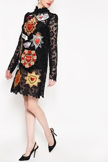 DOLCE & GABBANA Embroidered long sleeves lace dress