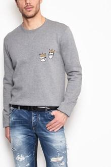 DOLCE & GABBANA Crew-neck sweatshirt with 'Stylists' patch