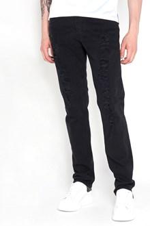 ALEXANDER MCQUEEN Destroyed denim jeans. Drop 18