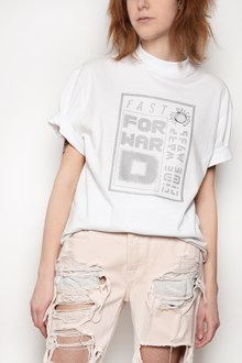 ALEXANDER WANG 'Fast forward' printed crew-neck cotton t-shirt