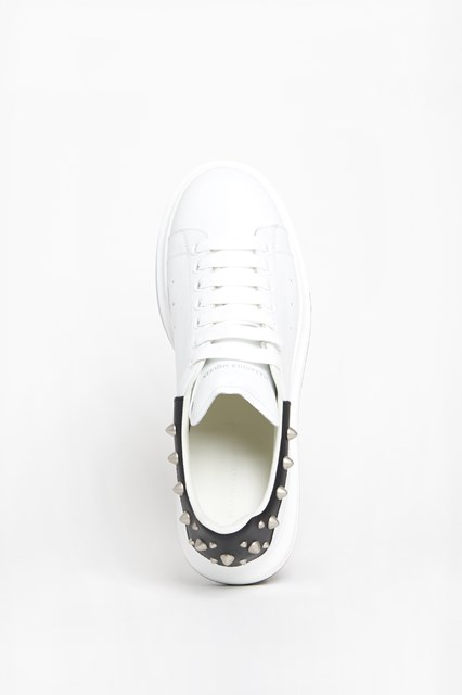 ALEXANDER MCQUEEN leather sneaker with studs and oversize sole