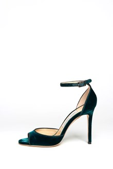 JIMMY CHOO 'Annie' velvet sandal tied to the ankle