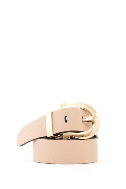 SALVATORE FERRAGAMO Leather belt with mediterranean hook