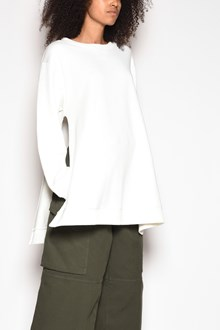 MM6 BY MAISON MARGIELA Cotton crewneck sweater with side slits
