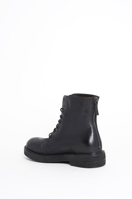 MARSÈLL Calf leather bootie with zip on the back