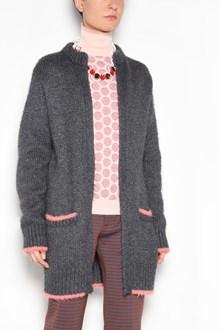 MARNI Oversize cardigan with pink profiles