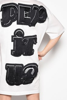 MARCO DE VINCENZO Oversize t-shirt with fringed details on the back