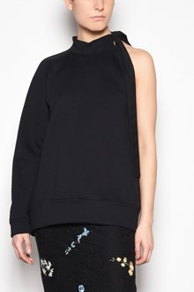 N°21 One sleeve sweatshirt with bow at the collar