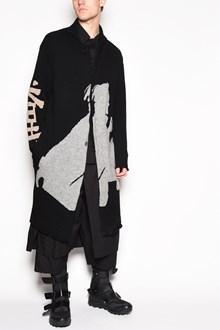 YOHJI YAMAMOTO 'Samurai' printed long oversize cardigan with buttons