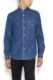 KENZO 'Tiger' embroidered denim shirt