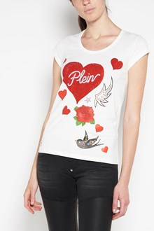PHILIPP PLEIN Printed cotton t-shirt with swarovski