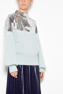 AVIU' Turtleneck sweater with sequinned upper side
