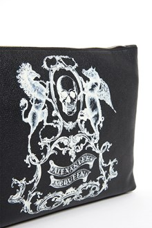 ALEXANDER MCQUEEN Calf leather clutch