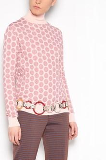 MARNI Turtle-neck polka dots cardigan