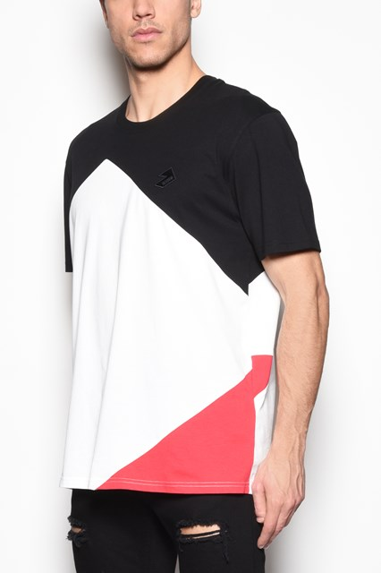 VERSUS VERSACE Multicolor cotton t-shirt with logo print on the back