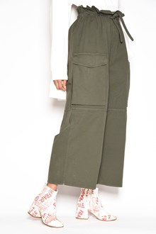 MM6 BY MAISON MARGIELA Cotton military pants with side pockets and waist drawstring