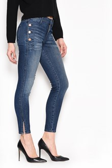 J BRAND 'Zion' denim mid rise jeans with buttons on the side