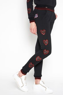 PHILIPP PLEIN Sweatpants with hearts details
