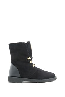 GIUSEPPE ZANOTTI DESIGN Suede ankle boots with shearling inside