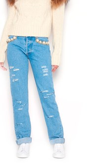 FORTE COUTURE Destroyed Denim Jeans