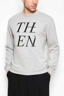 McQ ALEXANDER McQUEEN Mixed cotton crew-neck sweater with cut out print