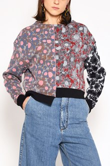 MARNI Jaquard asymmetrical all over printed sweater