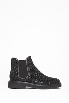 GIUSEPPE ZANOTTI DESIGN Glittered ankle boot with lateral elastic