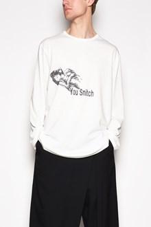 YOHJI YAMAMOTO Long sleeves 'Woman stitch' printed t-shirt