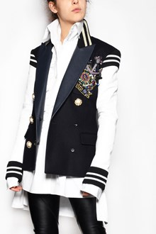 FAITH CONNEXION V-neck embroidered jacket with applications and jewel buttons