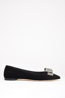 GIUSEPPE ZANOTTI DESIGN Ballet Flat with crystal bow