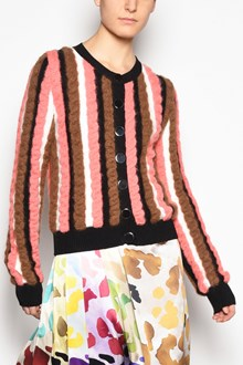MARCO DE VINCENZO Multicolor striped cardigan with buttons