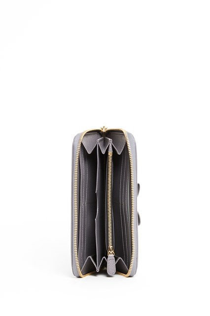 SALVATORE FERRAGAMO Zip around Vara wallet with bow