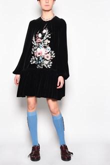 N°21 'Flowers' printed velvet dress