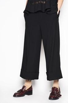 N°21 'Coulotte' trousers with flaps at bottom