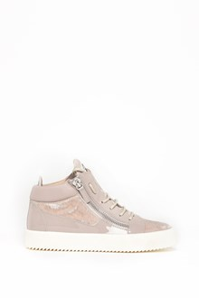 GIUSEPPE ZANOTTI DESIGN Suede sneaker with leather details