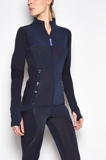 ADIDAS BY STELLA MCCARTNEY 'Run knit' zipped hooded sweatshirt