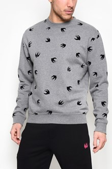 McQ ALEXANDER McQUEEN Cotton crewneck sweater with 'Swallow' print