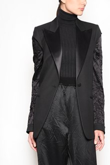 MAISON MARGIELA Virgin wool jacket with contrasting silk sleeves