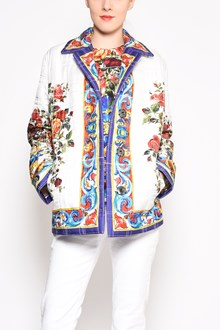DOLCE & GABBANA 'Flower pot' printed silk jacket