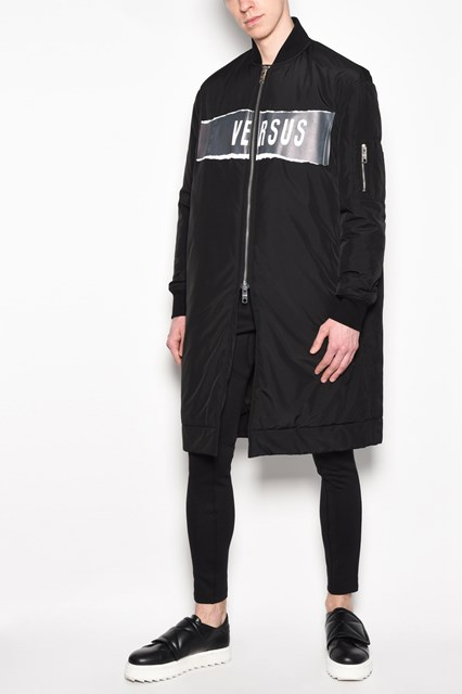 ZAYN X VERSUS Long zipped printed bomber jacket