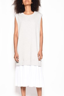 MM6 BY MAISON MARGIELA Cotton sleeveless sweater dress with ruffled skirt
