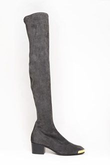 GIUSEPPE ZANOTTI DESIGN Suede high boots with gold plate