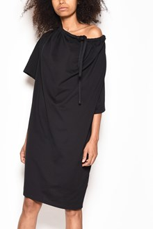 MM6 BY MAISON MARGIELA Cotton short sleeved dress with drawstring collar