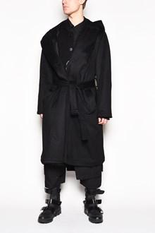 YOHJI YAMAMOTO Hooded coat with belt