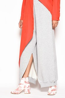 MM6 BY MAISON MARGIELA Cotton oversize sweat pants with elastic and slit on ankles